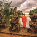 AMACambodia_Monk_By_Mekong_River